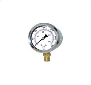 Pressure Gauge Ss Body Brass Internal
