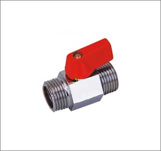 Mini Ball Valve Male X Male Polished